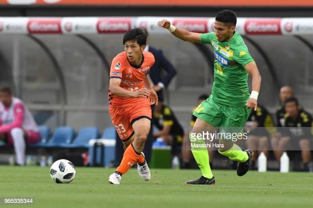 Kanji Okunuki of Omiya Ardija in action during the JLeague J2 match between Omiya Ardija and JEF United Chiba at Nack 5 Stadium Omiya on May 6 2018...