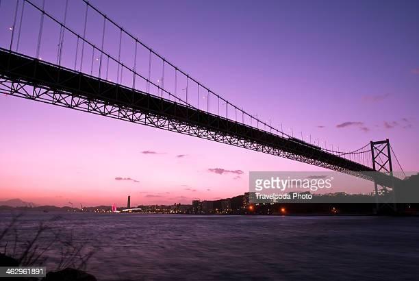 kanmon bridge - 北九州市 ストックフォトと画像