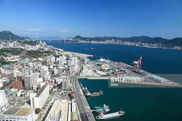 kanmon straights, shimonoseki, yamaguchi, japan - 北九州市 ストックフォトと画像
