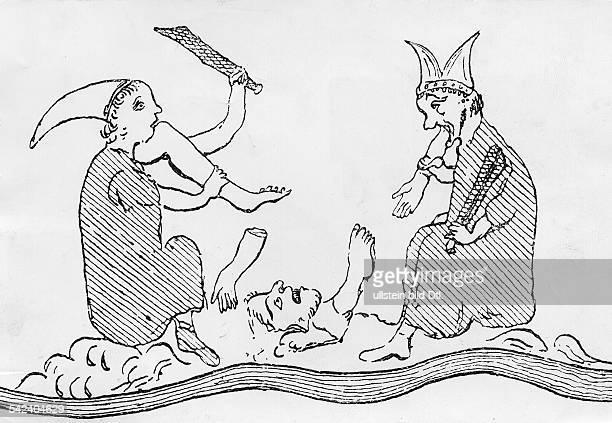 Kannibalen aus der Herefordkarte 13 Jahrhundert