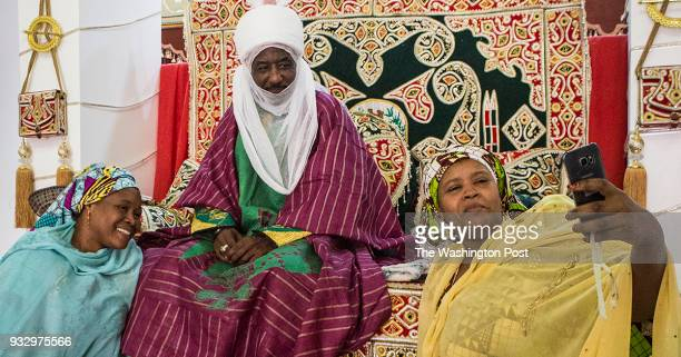 Kano Nigeria The Emir of Kano Muhammed Sanusi II meets with female family members in the inner palace in Kano Nigeria on Tuesday January 16 2018