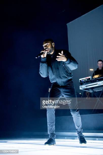 Kano performs at The Drumsheds on February 7, 2020 in London, England.
