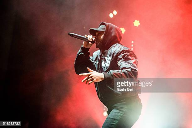 Kano performs live at the Troxy on March 19 2016 in London England