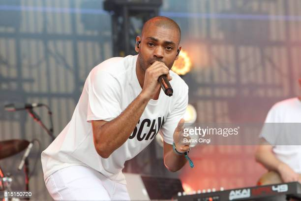 ONLY Kano performs on day 2 of Lovebox Festival at Victoria Park on July 15 2017 in London England