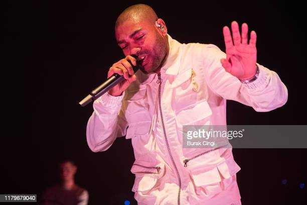 Kano performs on stage at Royal Albert Hall on October 07 2019 in London England