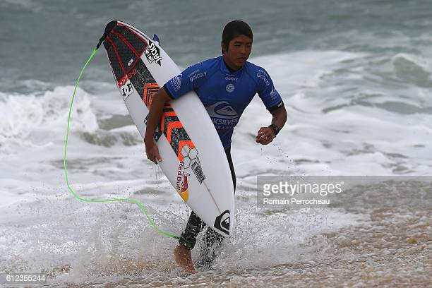 Kanoa Igarashi at the end of the first round of the Quiksilver Pro of Surfing at plage des culs nus on October 4 2016 in Hossegor France
