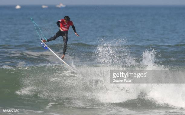 Kanoa Igarashi from United States of America in action during Semifinals heat 2 of the Meo Rip Curl Pro Portugal 2017 at Supertubos beach on October...
