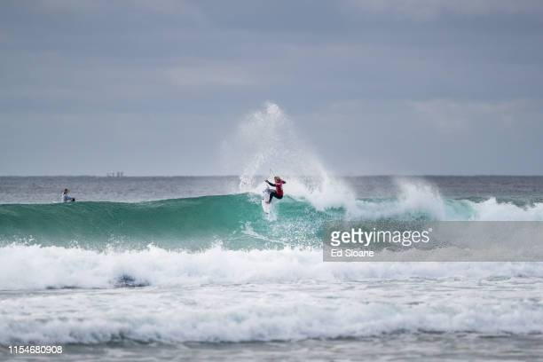 Kanoa Igarashi of Japan advances directly to Round 3 of the 2019 Corona Open JBay after winning Heat 3 of Round 1 at Supertubes on July 9 2019 in...
