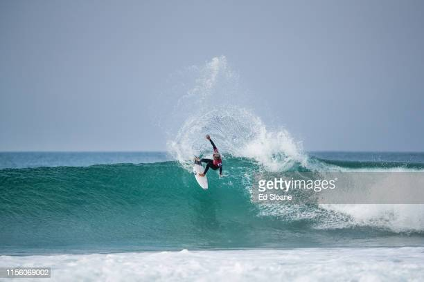 Kanoa Igarashi of Japan advances to the quarter finals of the 2019 Corona Open JBay after winning Heat 7 of Round 4 at Supertubes on July 17 2019 in...