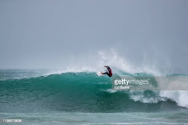 Kanoa Igarashi of Japan is eliminated from the 2019 Corona Open JBay with an equal 5th finish after placing second in Quarter Final Heat 4 at...