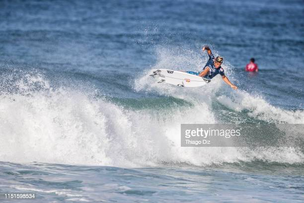 Kanoa Igarashi of Japan is eliminated from the 2019 Oi Rio Pro with an equal 5th finish after placing second in Quarter Final Heat 1 at Barrinha...