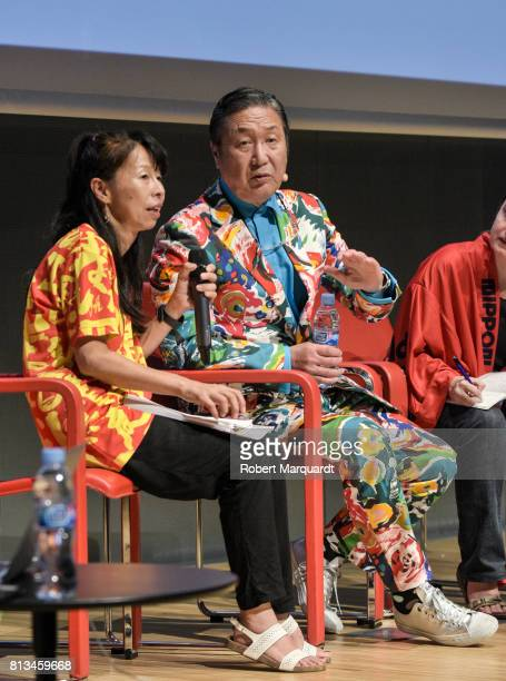 Kansai Yamamoto attends the 'David Bowie is Fashion' conference at the Muesum of Design on July 12 2017 in Barcelona Spain