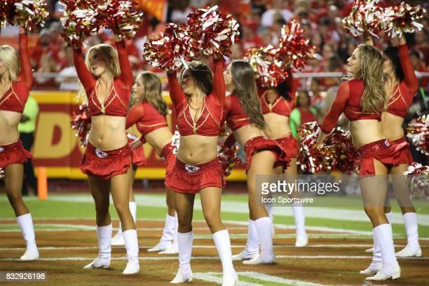 Kansas City Chiefs cheerleaders perform during an NFL week 1 preseason game between the San Francisco 49ers and the Kansas City Chiefs on August 11th...