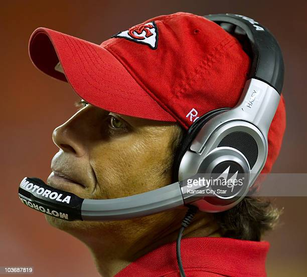 Kansas City Chiefs coach Todd Haley wore a look at resignation late in a 20-17 loss to the Philadelphia Eagles at Arrowhead Stadium in Kansas City,...