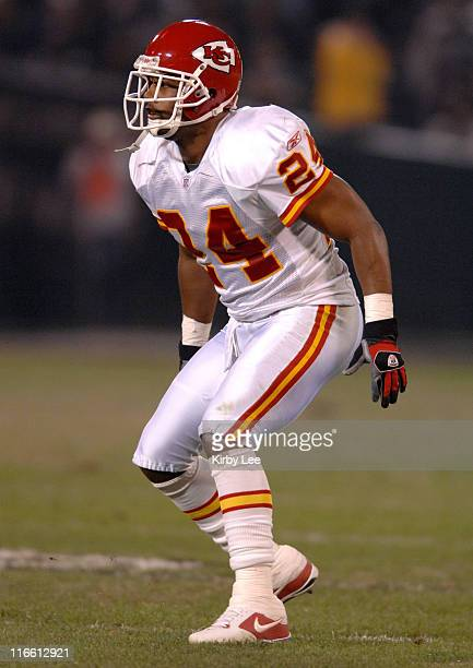 Kansas City Chiefs cornerback Ty Law during 20-9 victory over the Oakland Raiders in NFL Network game at McAfee Coliseum in Oakland, Calif. On...