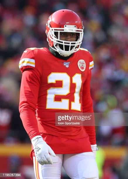 Kansas City Chiefs defensive back Bashaud Breeland in the first quarter of the AFC Championship game between the Tennessee Titans and Kansas City...