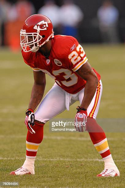 Kansas City Chiefs defensive back Patrick Surtain looks into the backfield during the game with the Cleveland Browns on August 11 2007 at Cleveland...