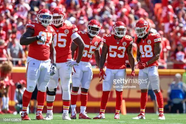 Kansas City Chiefs defensive end Allen Bailey Kansas City Chiefs defensive tackle Chris Jones Kansas City Chiefs linebacker Dee Ford Kansas City...