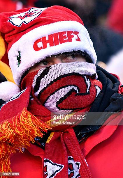 Kansas City Chiefs fan watches during the game against the Tennessee Titans at Arrowhead Stadium on December 18 2016 in Kansas City Missouri