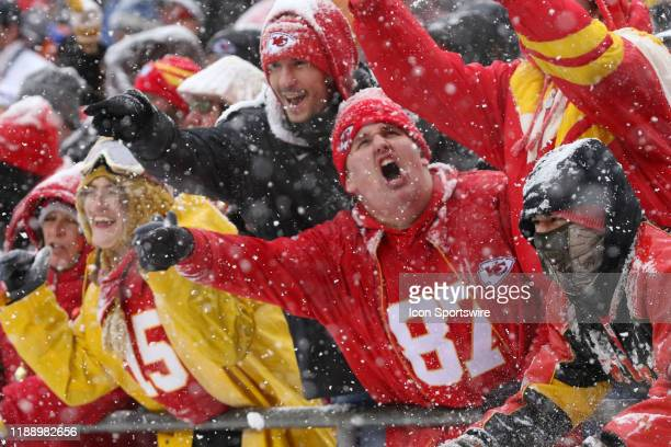 Kansas City Chiefs fans make noise to cheer on their defense in the third quarter of an AFC West game between the Denver Broncos and Kansas City...