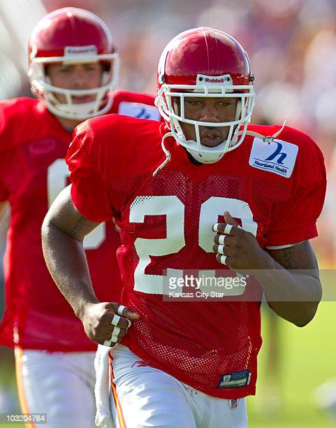 Kansas City Chiefs first round draft pick safety Eric Berry begins his first day of practice with the team during training camp at Missouri Western...