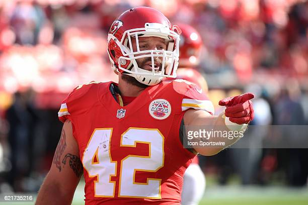 Kansas City Chiefs fullback Anthony Sherman before a week 9 NFL game between the Jacksonville Jaguars and Kansas City Chiefs on November 06 2016 at...
