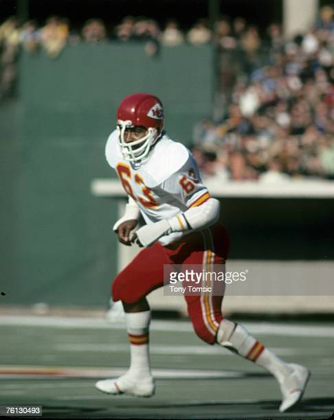 Kansas City Chiefs Hall of Fame linebacker Willie Lanier during a 283 loss to the Pittsburgh Steelers on November 16 at Three Rivers Stadium in...