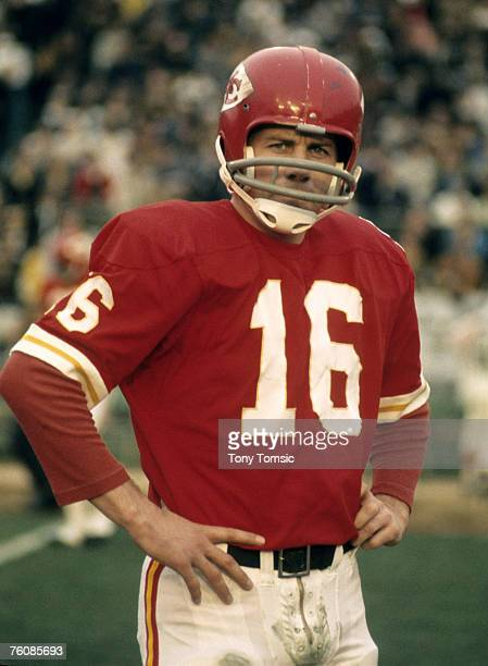 Kansas City Chiefs Hall of Fame quarterback Len Dawson during Super Bowl IV a 237 victory over the Minnesota Vikings on January 11 at Tulane Stadium...