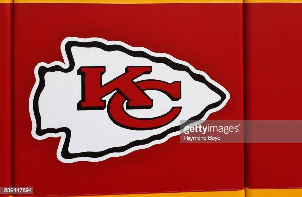 Kansas City Chiefs logo inside Arrowhead Stadium home of the Kansas City Chiefs football team in Kansas City Missouri on August 12 2017