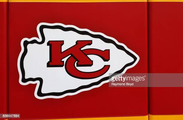 Kansas City Chiefs logo inside Arrowhead Stadium, home of the Kansas City Chiefs football team in Kansas City, Missouri on August 12, 2017.