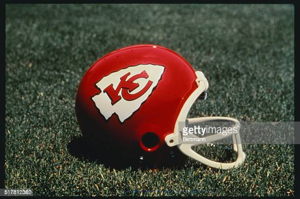 Kansas City Chiefs logo on a helmet