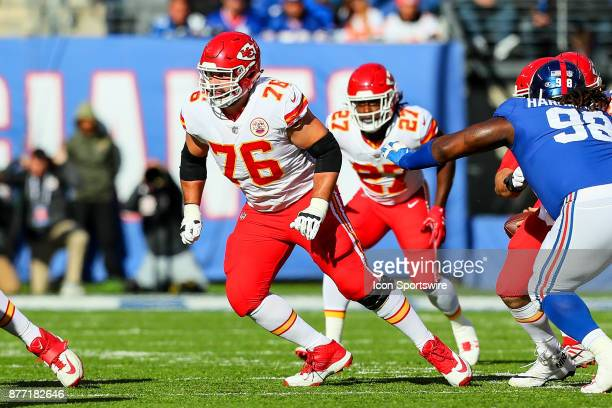 Kansas City Chiefs offensive guard Laurent DuvernayTardif during the first quarter of the National Football League game between the New York Giants...