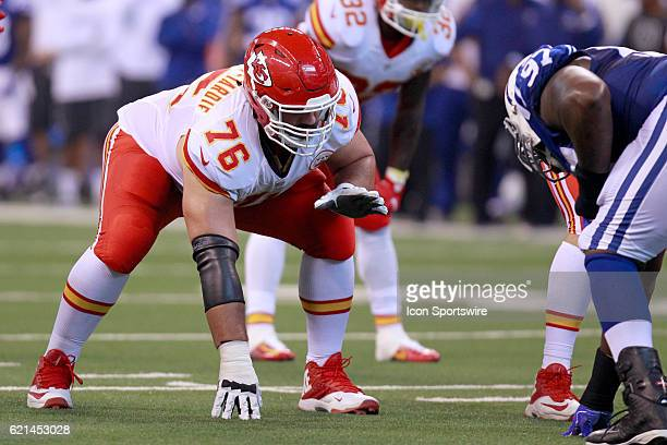 Kansas City Chiefs Offensive Guard Laurent DuvernayTardif in action during the NFL game between the Kansas City Chiefs and the Indianapolis Colts on...