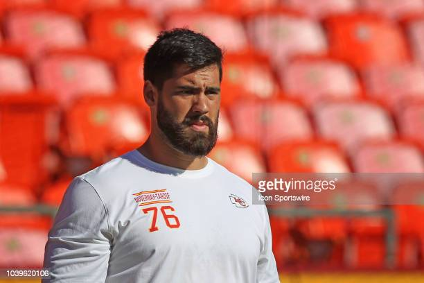 Kansas City Chiefs offensive tackle Laurent DuvernayTardif before a week 3 NFL game between the San Francisco 49ers and Kansas City Chiefs on...