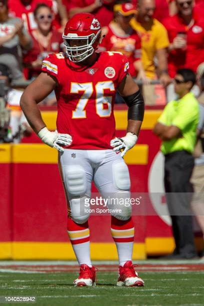 Kansas City Chiefs offensive tackle Laurent DuvernayTardif during the NFL game against the San Francisco 49ers on September 23 2018 at Arrowhead...