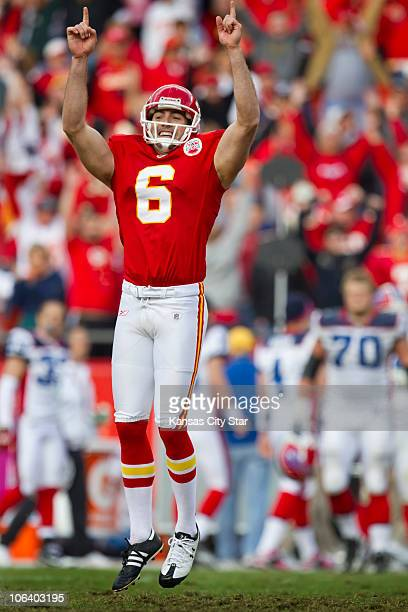 Kansas City Chiefs place kicker Ryan Succop celebrated his gamewinning field goal in overtime over the Buffalo Bills The Chiefs defeated the Bills...
