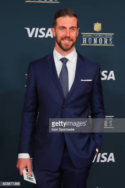 Kansas City Chiefs quarterback Alex Smith on the Red Carpet at the 2017 NFL Honors on February 04 at the Wortham Theater Center in Houston Texas