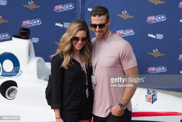 Kansas City Chiefs quarterback Alex Smith with wife Elizabeth Barry prior to the 101st Indianapolis 500 on May 28 at the Indianapolis Motor Speedway...
