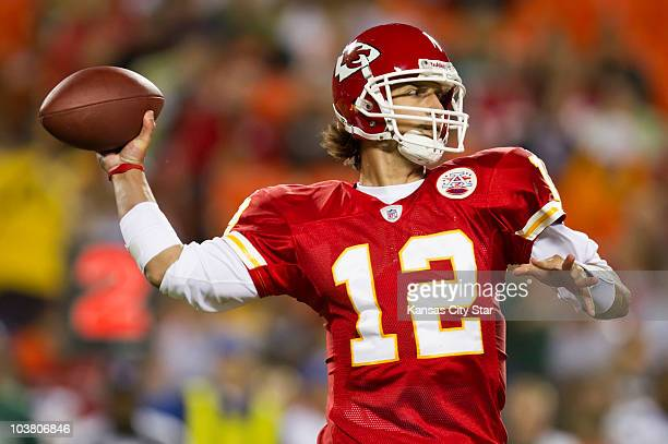 Kansas City Chiefs quarterback Brodie Croyle threw for 119 yards on 11of16 passing during a 1713 victory over the Green Bay Packers at Arrowhead...