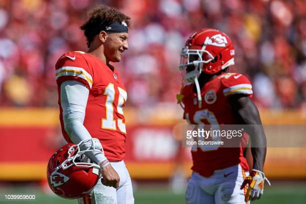 Kansas City Chiefs quarterback Patrick Mahomes looks on in action during an NFL game between the San Francisco 49ers and the Kansas City Chiefs on...