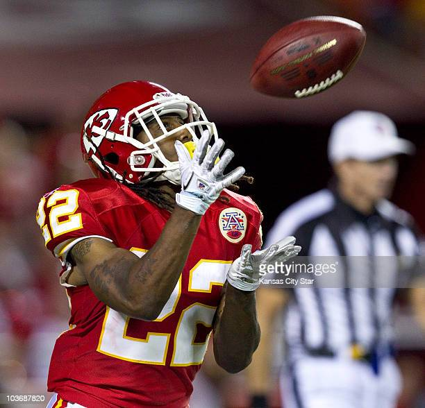 Kansas City Chiefs rookie Dexter McCluster prepares to return a kickoff early in the fourth quarter against the Philadelphia Eagles at Arrowhead...