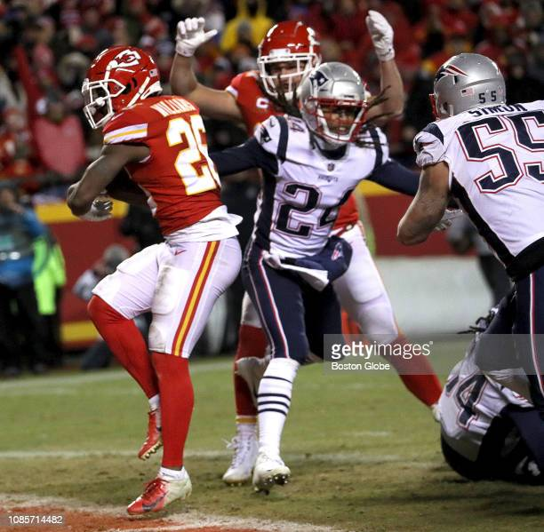 Kansas City Chiefs running back Damien Williams dances into the end zone for a touchdown in the fourth quarter The Kansas City Chiefs host the New...