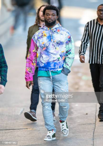 Kansas City Chiefs running back Damien Williams is seen at 'Jimmy Kimmel Live' on February 03 2020 in Los Angeles California