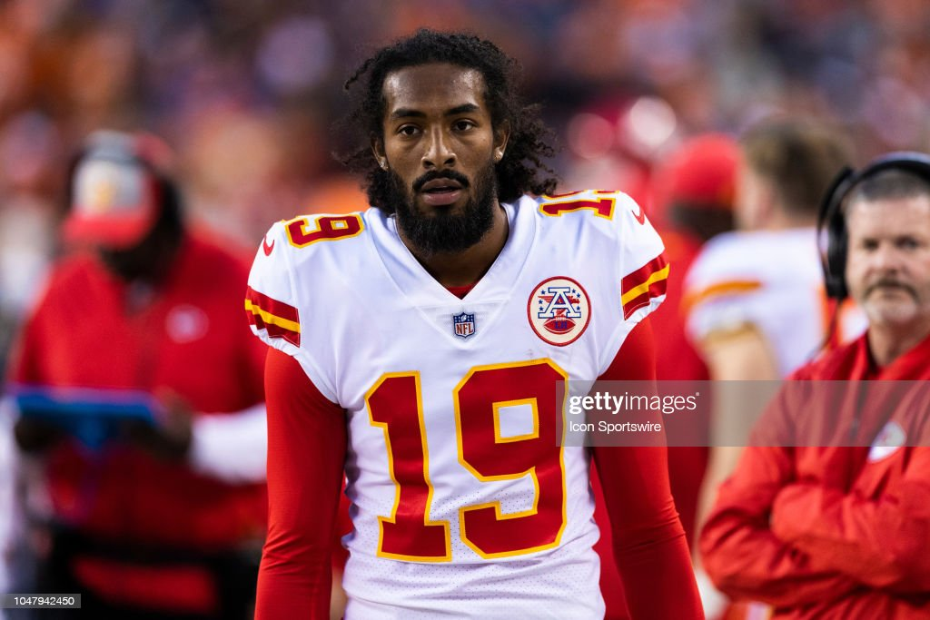 sports shoes a96d7 a51ed Kansas City Chiefs wide receiver Marcus Kemp during the NFL ...