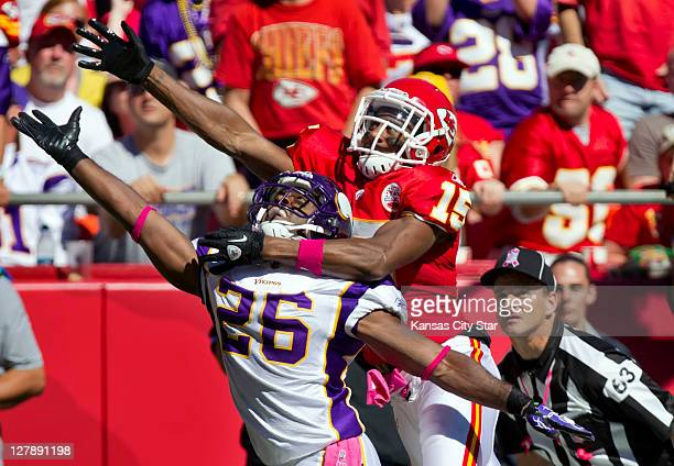 Kansas City Chiefs wide receiver Steve Breaston was called for offensive pass interference on Minnesota Vikings cornerback Antoine Winfield in the...