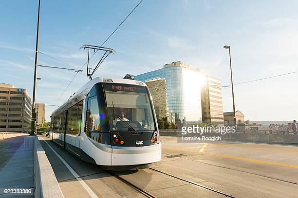 Kansas City Missouri Streetcar Downtown Line Provides Public Transportation USA