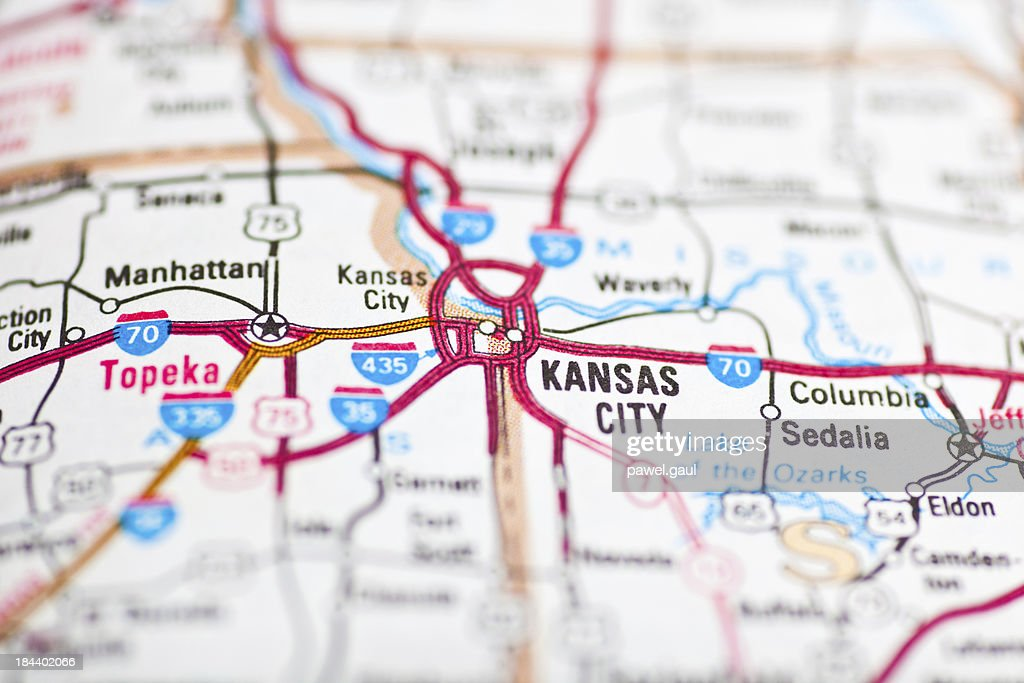 Kansas City Mo Map High-Res Stock Photo - Getty Images