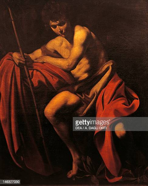 Kansas City NelsonAtkins Museum Of Art St John the Baptist 16041605 by Michelangelo Merisi da Caravaggio oil on canvas 172x138 cm