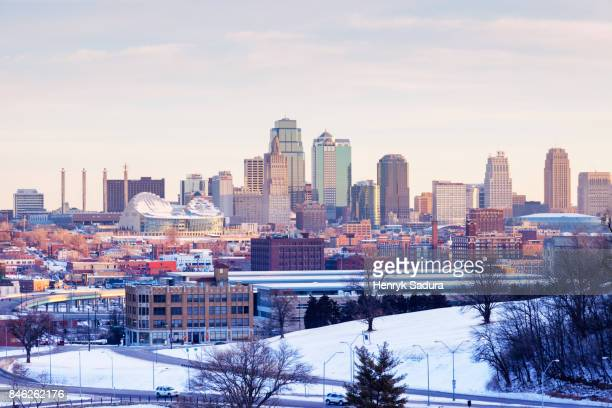 Kansas City panorama at sunrise