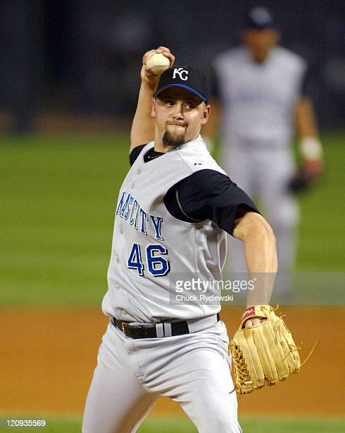 Kansas City pitcher Mike Wood throws to the plate as the Kansas City Royals play the the Chicago White Sox at U.S. Cellular Field in Chicago,...